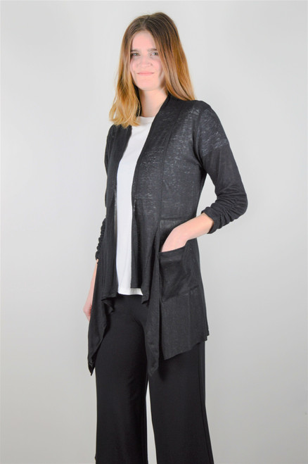 Maybloom Short Cardigan - Black