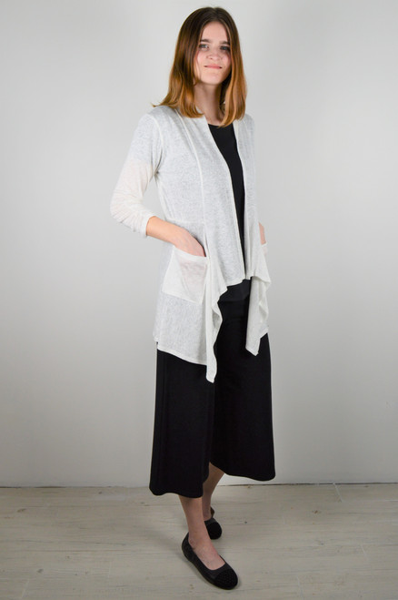 Maybloom Short Cardigan - White