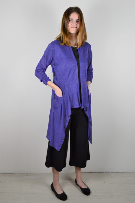 Maybloom Long Cardigan - Violet
