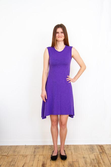 Sleeveless Tunic Dress - Violet