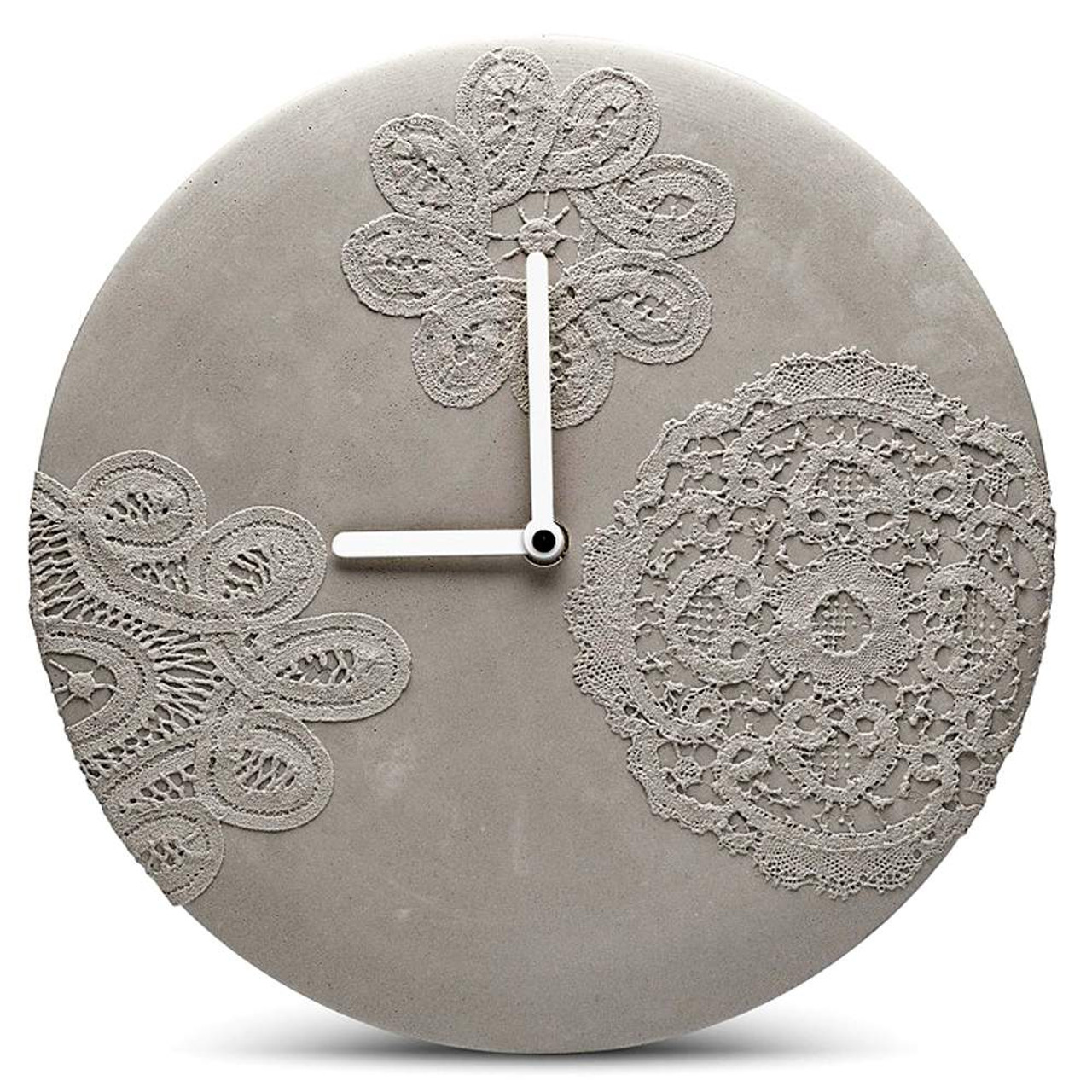 Concrete wall clocks and other objects