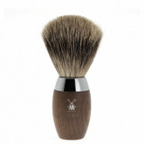 MUHLE shaving brush H873, fine badger hair, bog oak handle, chrome accent