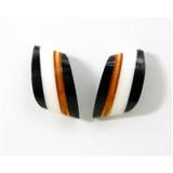 MABEL - Facet Studs  - Black & White