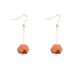 Mon Bijou - Drop Earrings - Copper Geometric Faceted Beads | The Design Gift Shop