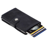 Secrid miniwallet vintage black leather | the design gift shop