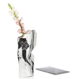 Silver Paper slide on vase cover by Tiny Miracles Foundation  | The Design Gift Shop