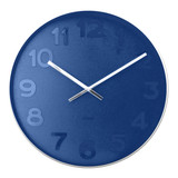 Karlsson Mr Blue numbers steel rim wall clock - Ø 51 x 7 cm | The Design Gift Shop