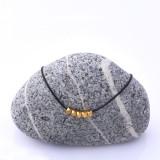 Mon Bijou Minimalist Necklaces Golden Nugget Black Lace | The Design Gift Shop