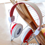 Coca Cola Collectable Retro Vintage Headphones Red & White | The Design Gift Shop