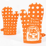 F*ck, I Love Cheese (Front and Back) - One Oven Mitt by Blue Q | the design gift shop