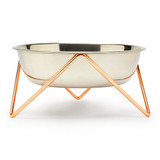 BENDO | Dog Bowl WOOF | Copper Stand