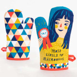 Most Likely to Microwave - One Oven Mitt by Blue Q | The Design Gift Shop