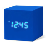 MoMA cube click clock blue / white LED | the design gift shop