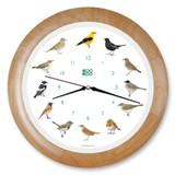 KooKoo - Singvögel - European Songbirds - Wall Clock - Wood Rim | the design gift shop