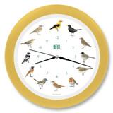 KooKoo - Singvögel - European Songbirds - Wall Clock - Cream-Yellow Rim | the design gift shop