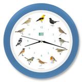 KooKoo - Singvögel - European Songbirds - Wall Clock - Sky-Blue Rim | the design gift shop