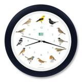 KooKoo - Singvögel - European Songbirds - Wall Clock - Blue-Black Rim | the design gift shop