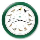 KooKoo - Singvögel - European Songbirds - Wall Clock - Dark-Green Rim | the design gift shop