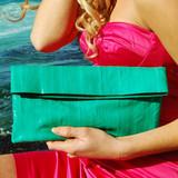 NAOMI LEVI  - LARGE FOLD CLUTCH  colour APPLE