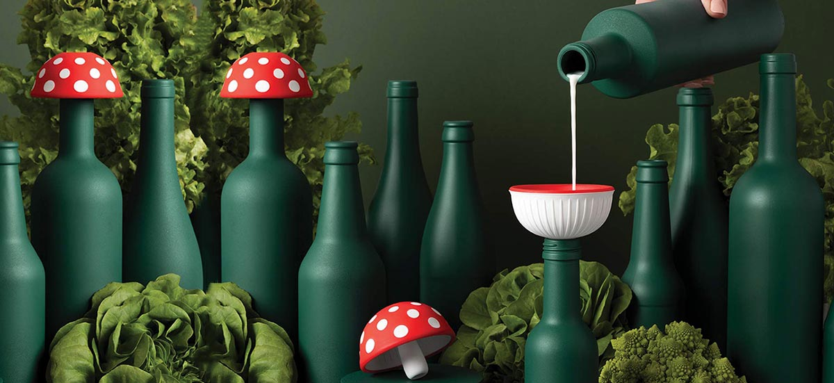 Magic Mushroom silicone funnel by Monkey Business