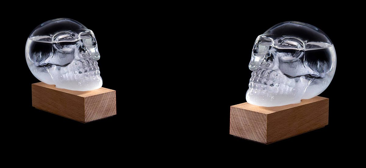 Skull Storm Glass Weather Station by ISgift