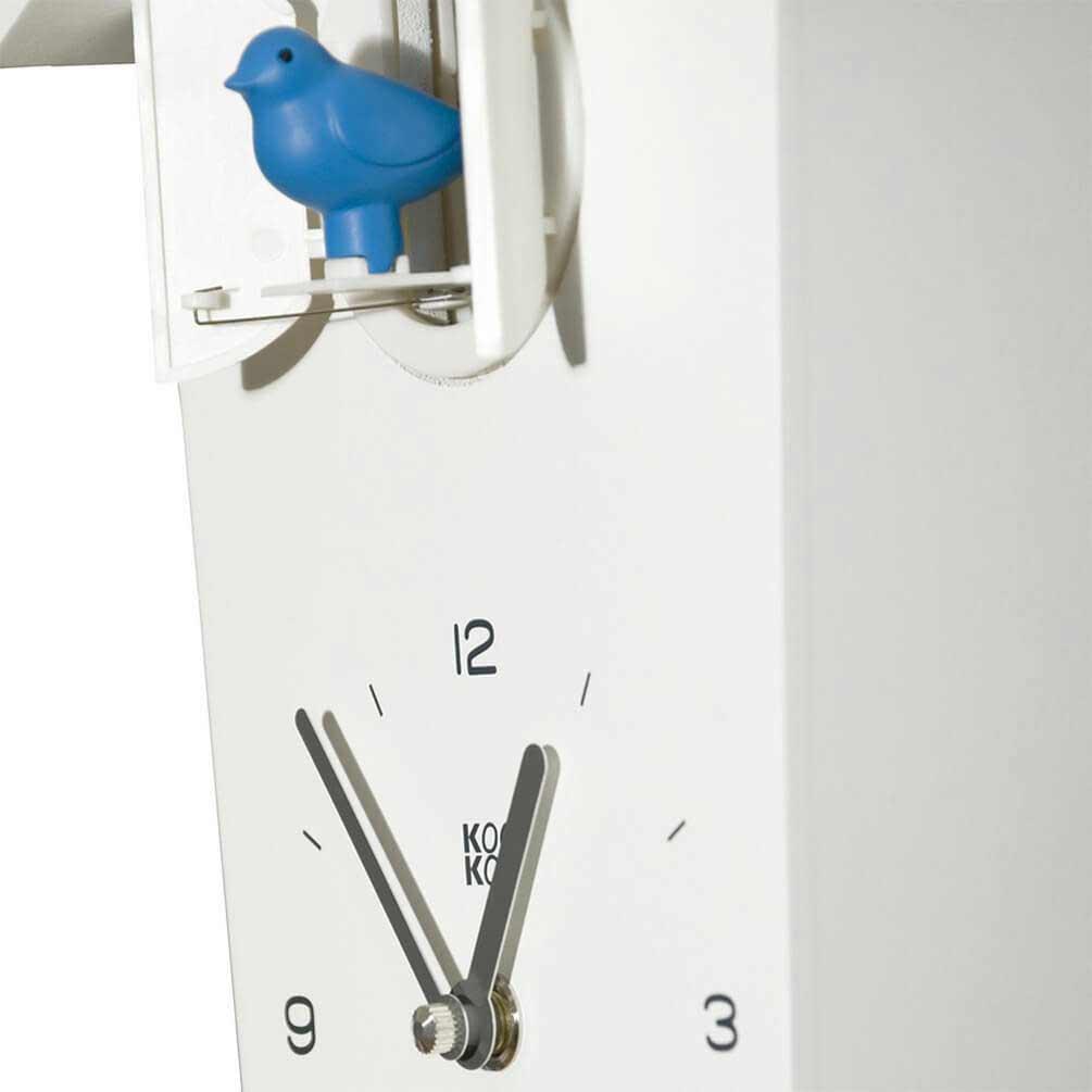 KooKoo BirdHouse cuckoo clock - white - detail | the design gift shop