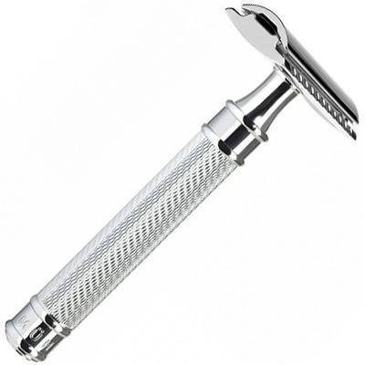 MUHLE Safety Razor R89 'GRANDE' chrome closed comb