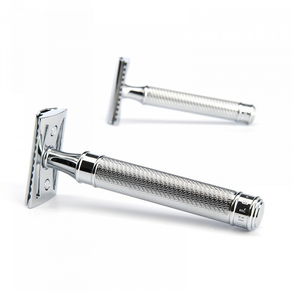 MUHLE Safety Razor R89 'GRANDE' chrome closed comb