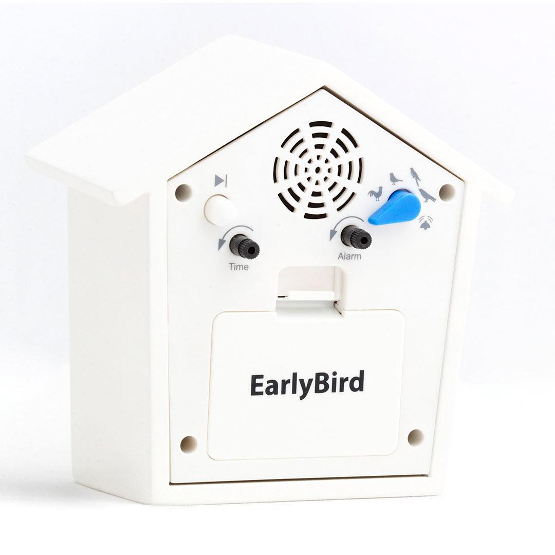 KooKoo EarlyBird Alarm Clock - White | the design gift shop