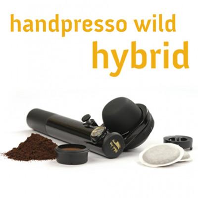 HANDPRESSO WILD Hybrid, Espresso Maker for ground coffee and E.S.E. pods