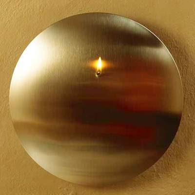 MONO CONVEX - ø 26 cm wall mounted oil lamp