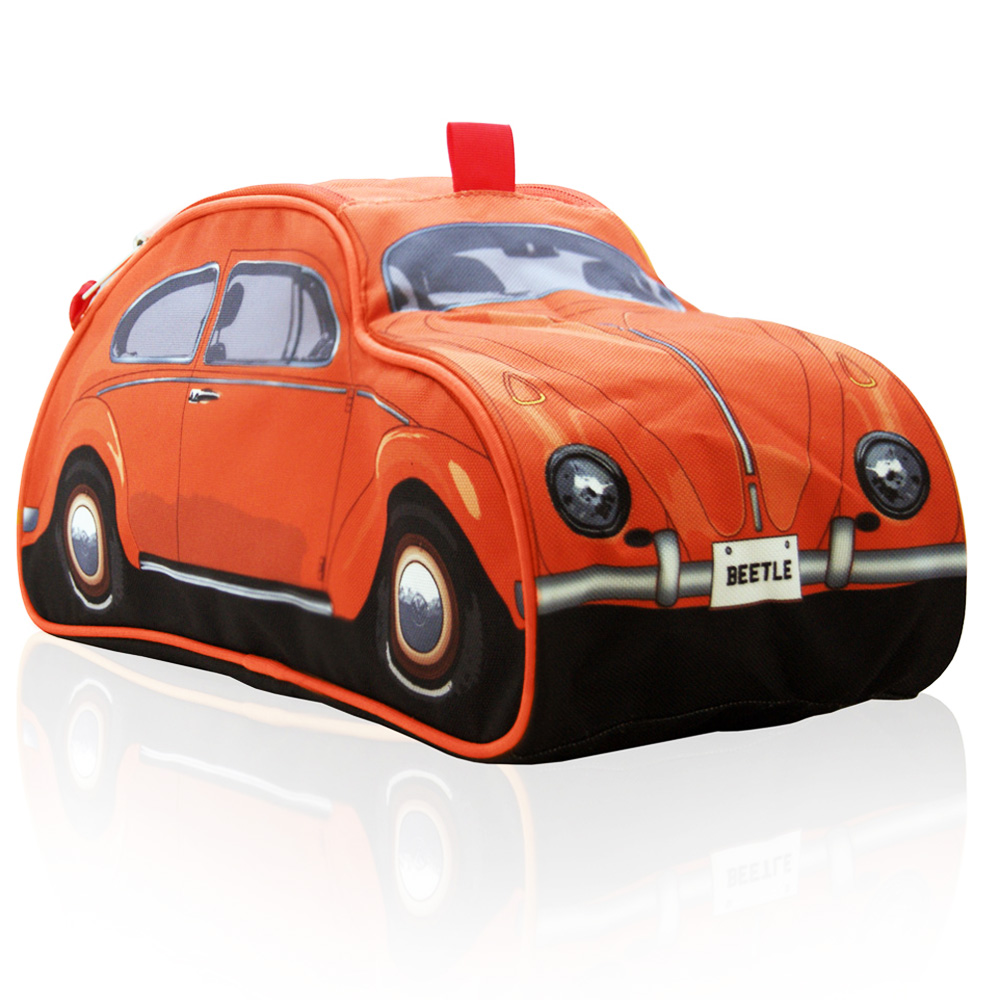 Gifts for VW beetle fans - orange toiletry bag by The Monster Factory