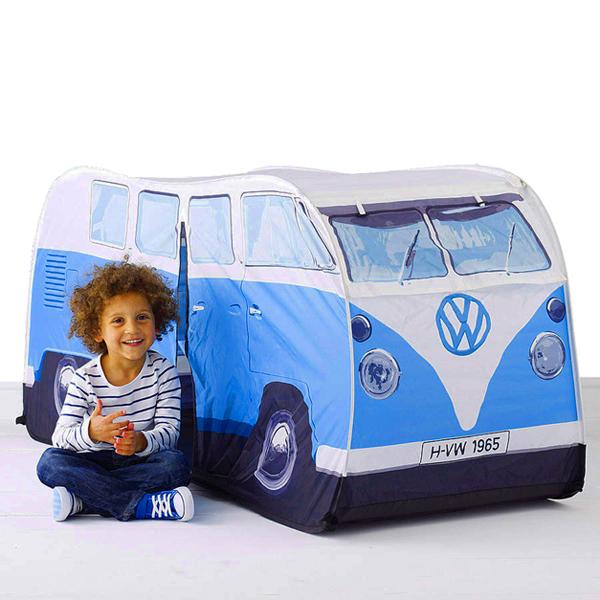 Blue VW campervan tent