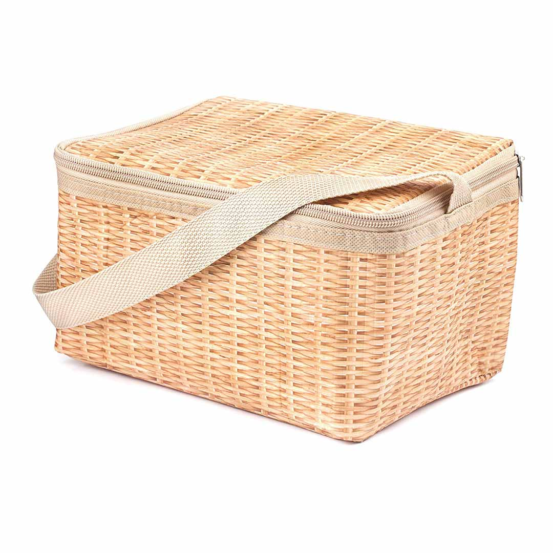 Wicker print insulated lunch bag by Kikkerland | The Design Gift Shop