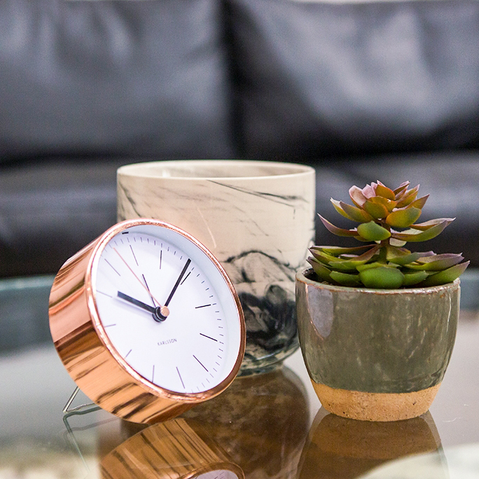 KARLSSON Minimal copper alarm clock white dial (deko not included) | the design gift shop
