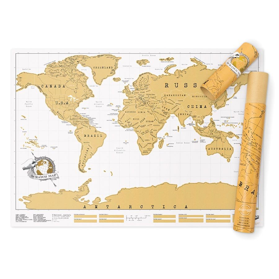Scratch Off World Map | The Design Gift Shop
