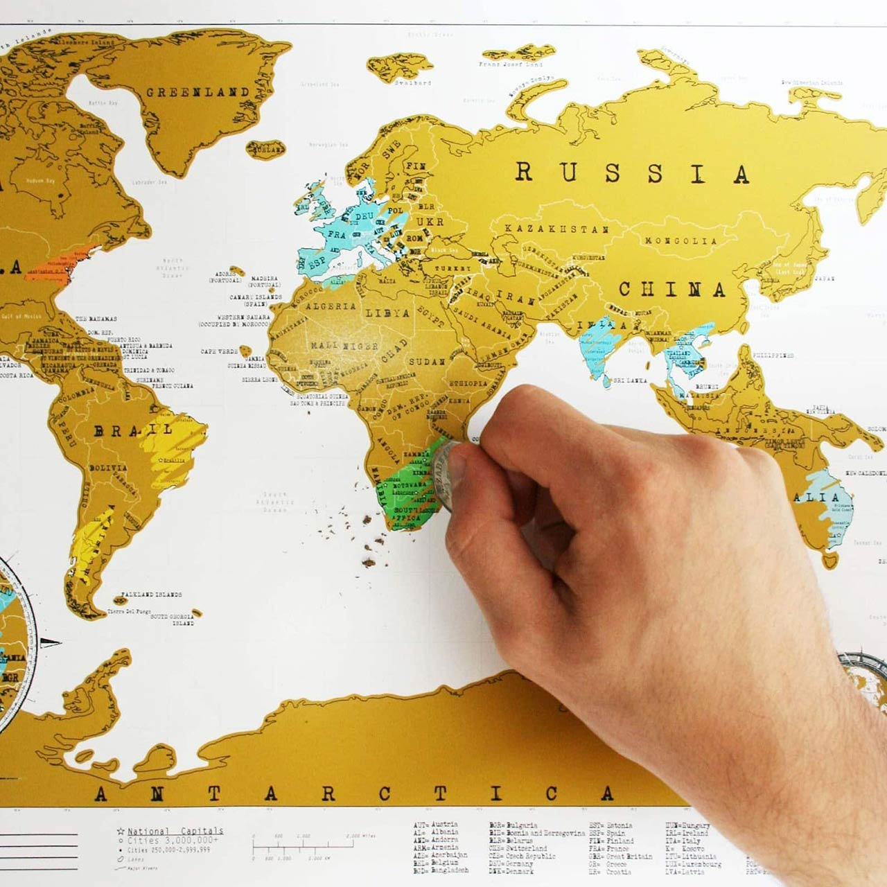 Large Scratch Off World Map | the design gift shop