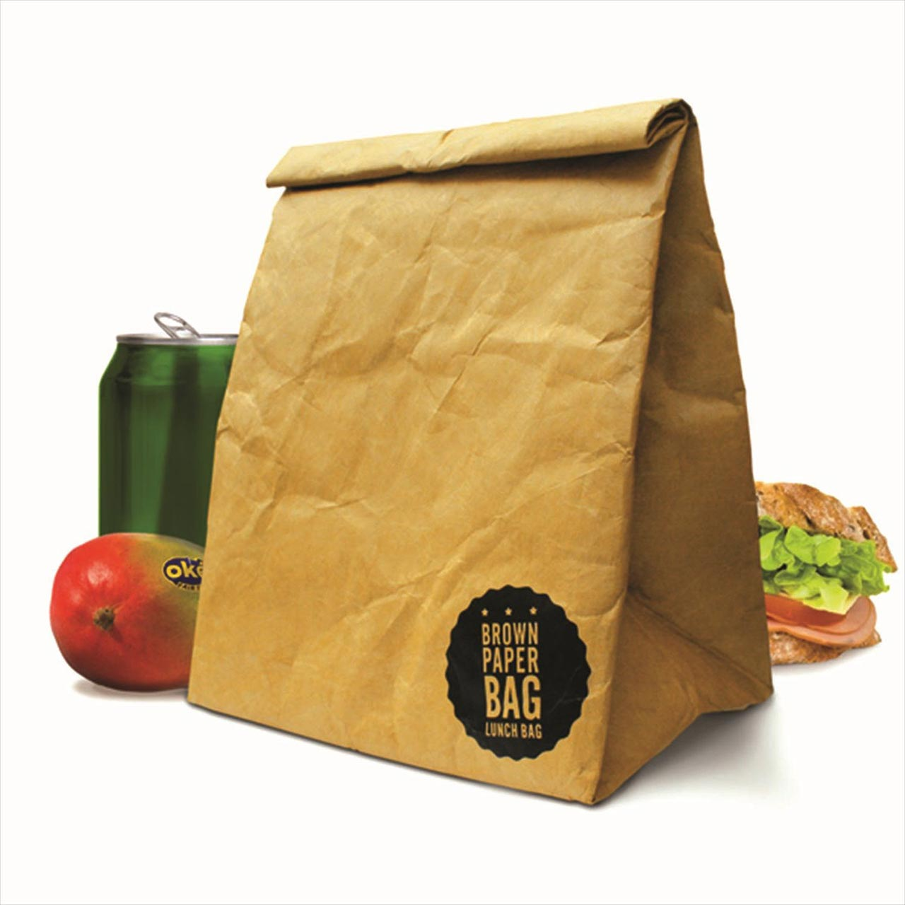 Luckies Brown Paper Lunch Bag - insulated   the design gift shop