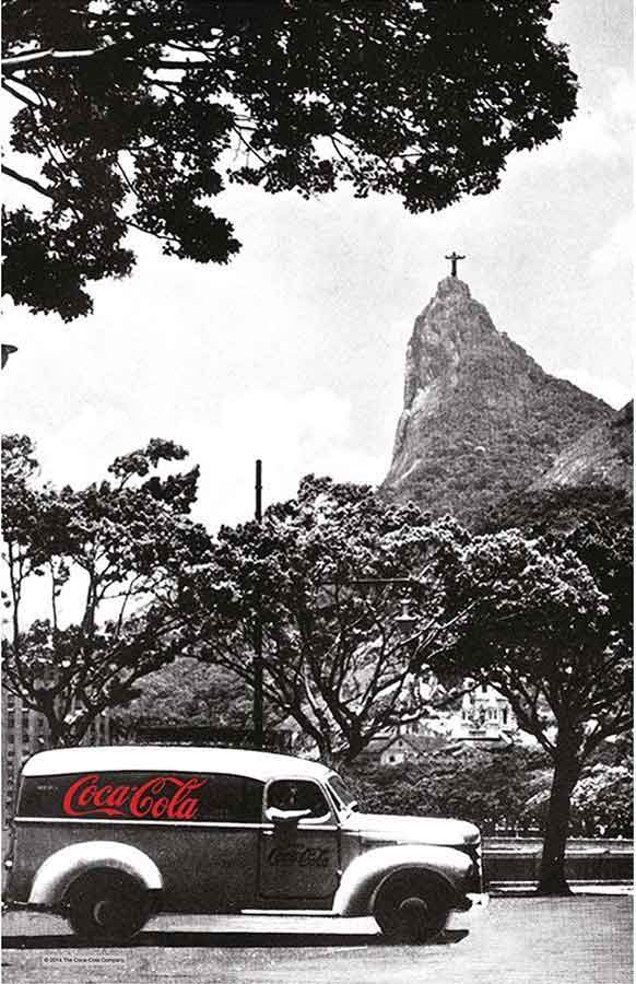 Coca-Cola tea towel 'Landscape Rio' | The Design Gift Shop