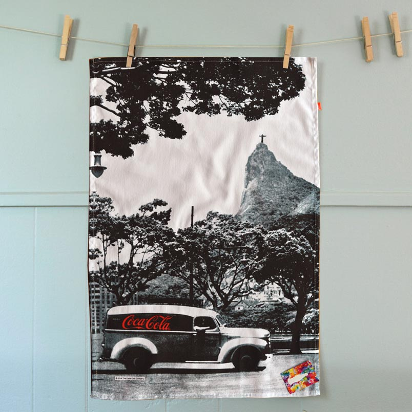 Coca-Cola tea towel 'Landscape Rio' | The Design Gift Shop