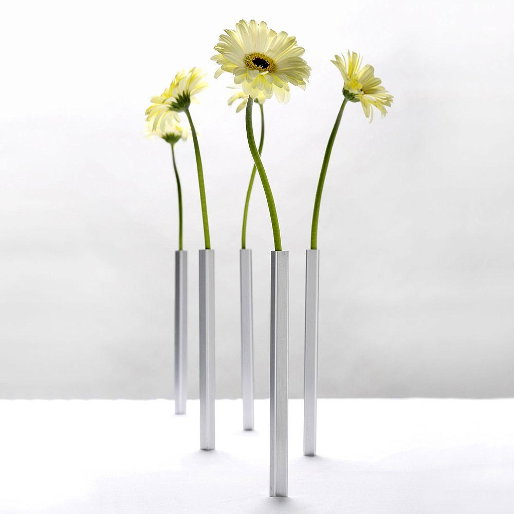 Magnetic Vase Set Silver | The Design Gift Shop