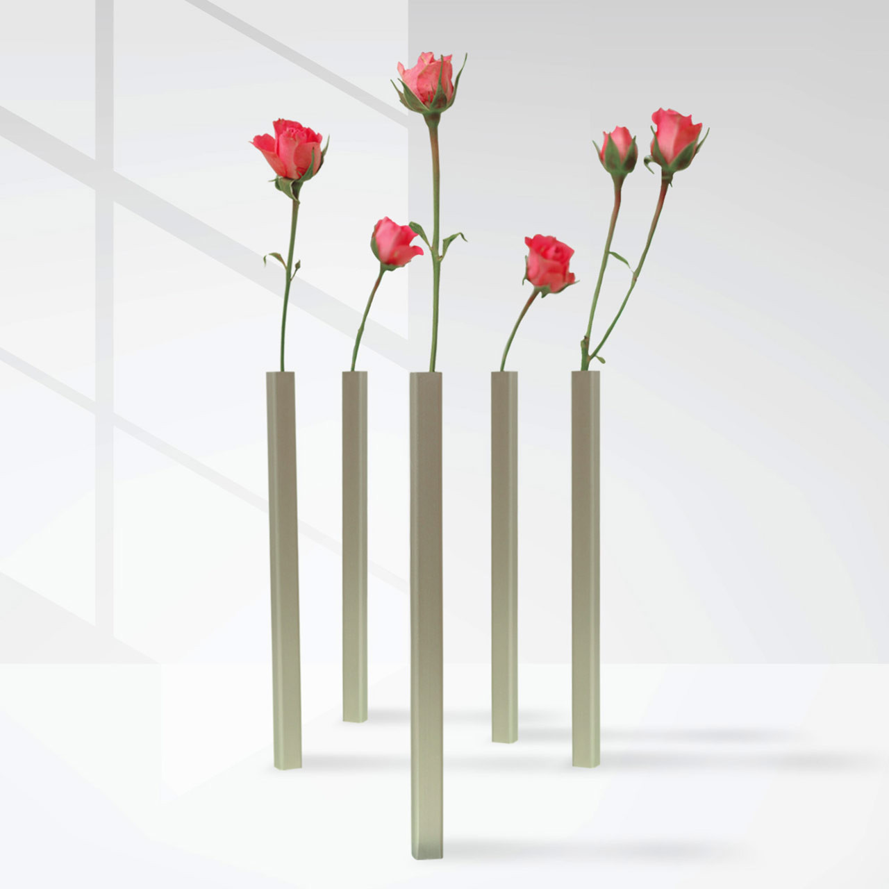 Magnetic Vase Set Silver | the design gift shop