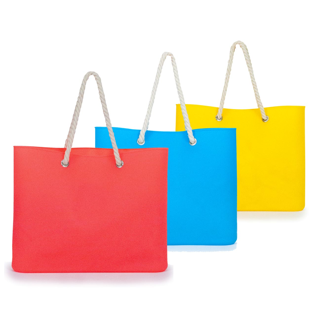 Jelly Tote Silicone in Blue, Red or Yellow | The Design Gift Shop