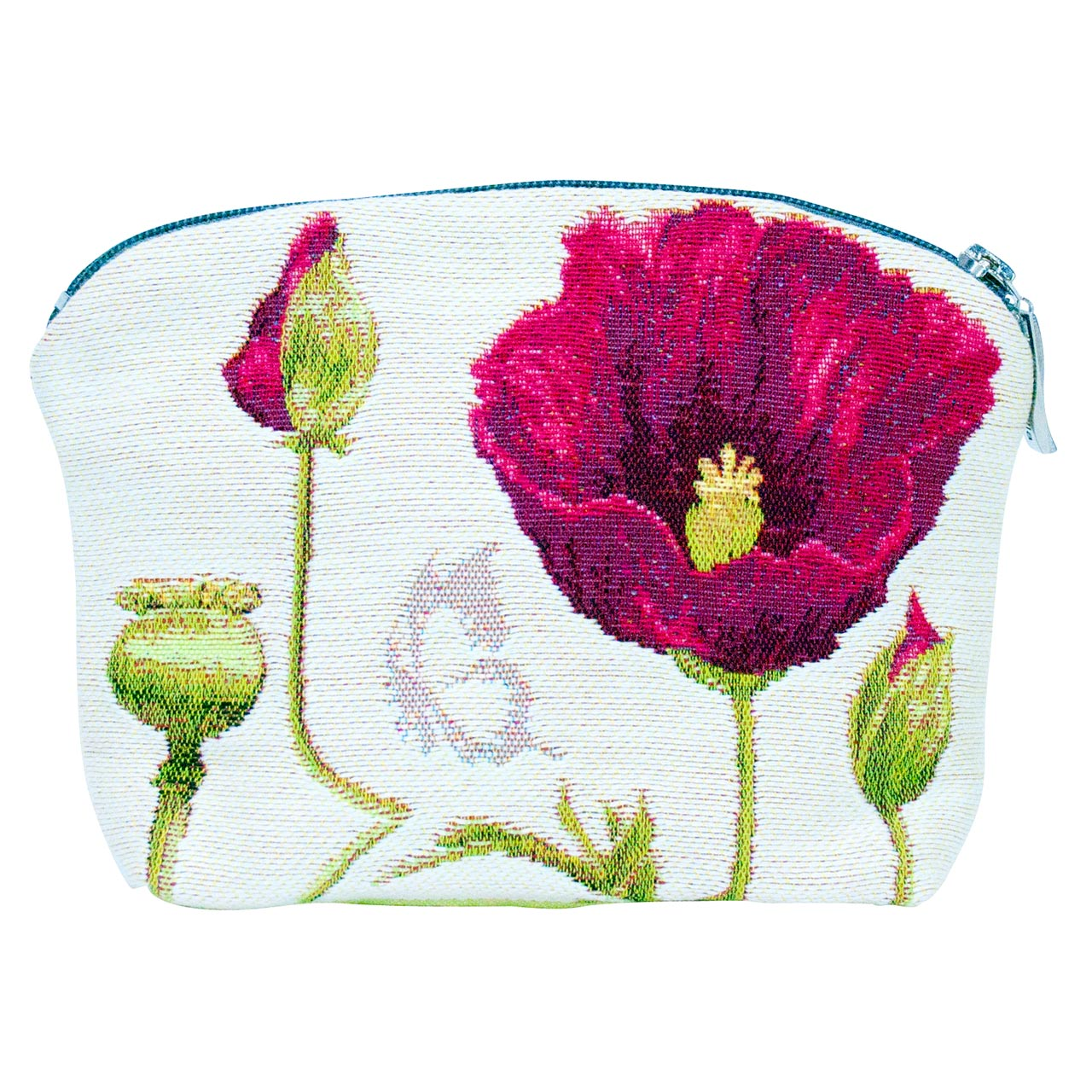 Cosmetic Bag French Tapestry Poppy Back | The Design Gift Shop