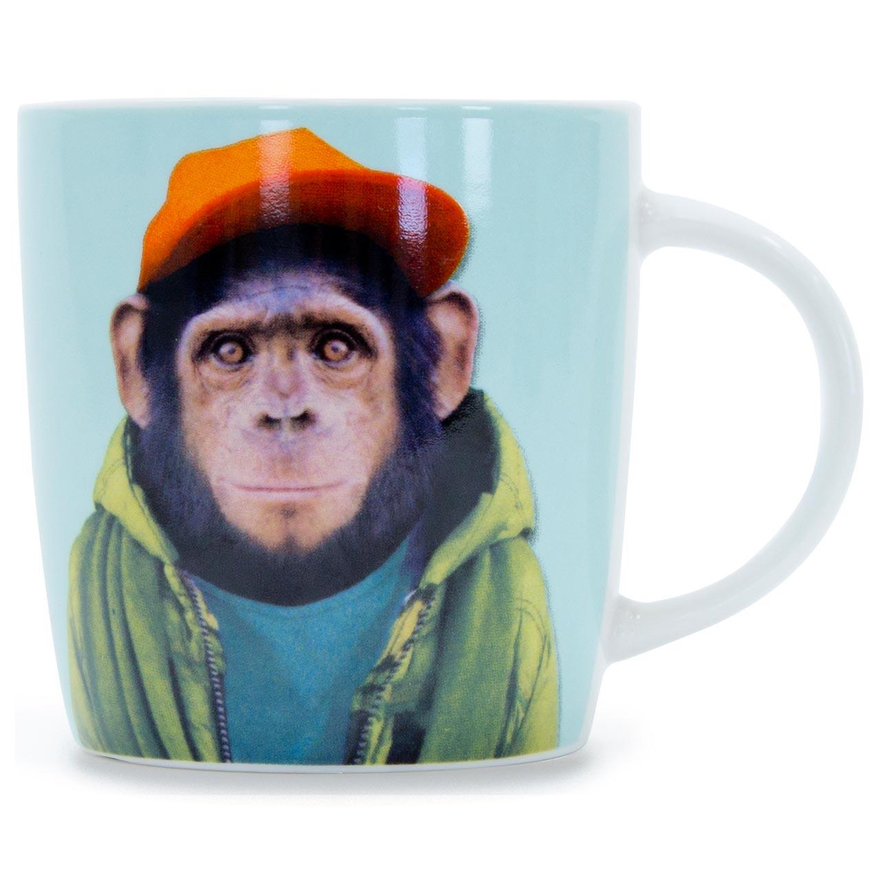 Porcelain Mug Chimp | The Design Gift Shop