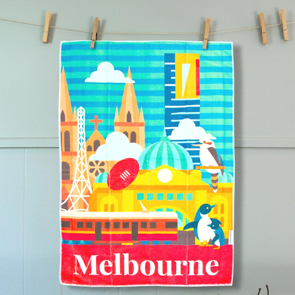 Tea Towel Melbourne | The Design Gift Shop