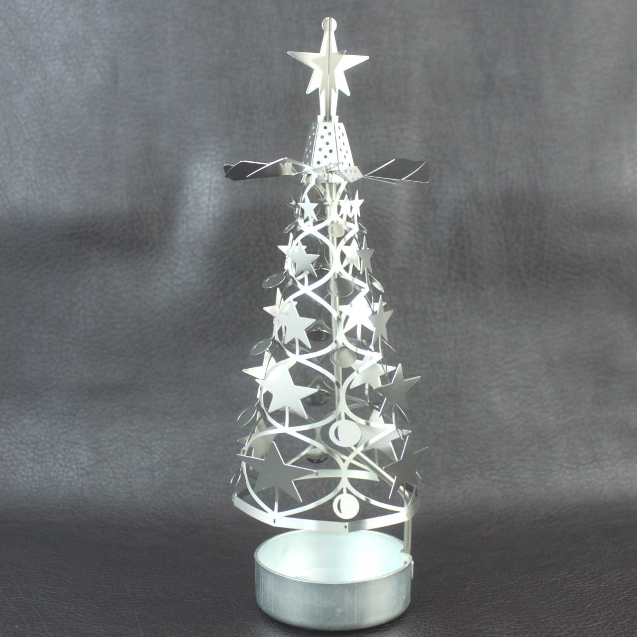 Rotating Christmas Tree Candle Holder | The Design Gift Shop
