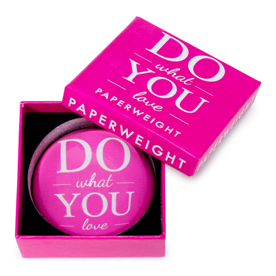 Paperweight 'Do what you love' with gift box | The Design Gift Shop