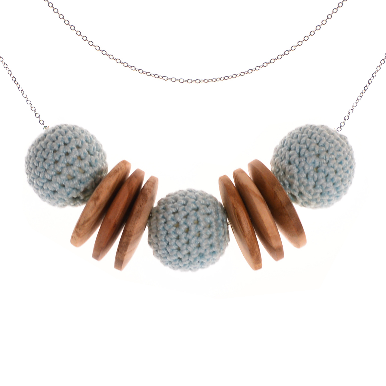 Mon Bijou - Necklace Elegance Nature - Light Grey | The Design Gift Shop