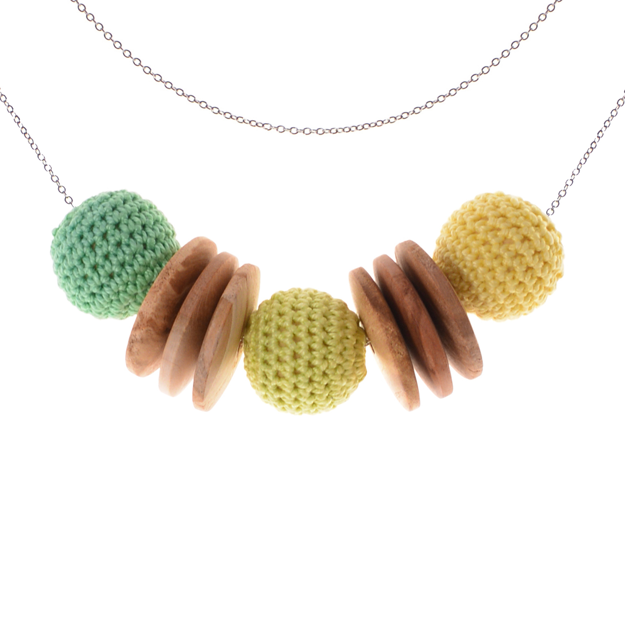 Mon Bijou - Necklace Elegance Nature - Green & Yellow Hues | The Design Gift Shop